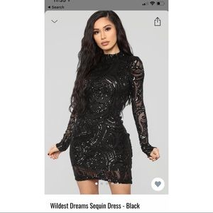 Brand new without tags black sequence dress